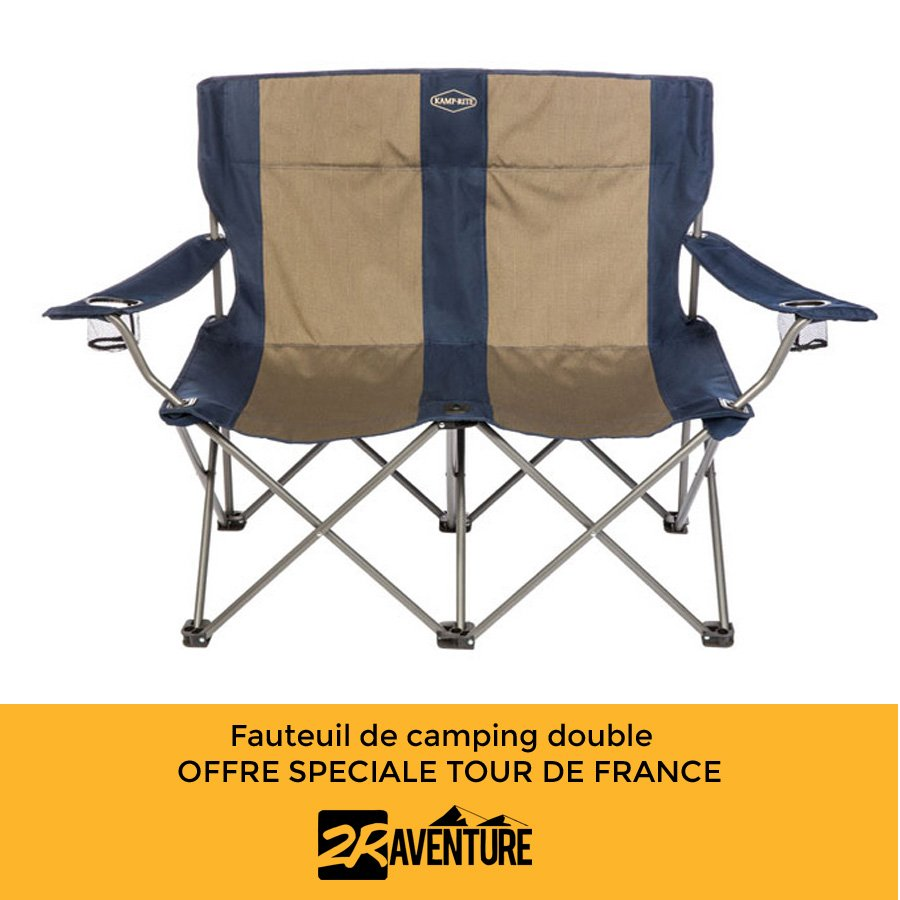 fauteuil de camping double l 39 assise du parfait supporter. Black Bedroom Furniture Sets. Home Design Ideas