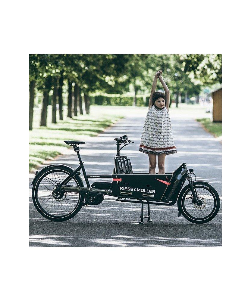 Le vélo cargo biporteur Packster 60 pour transporter 2 enfants
