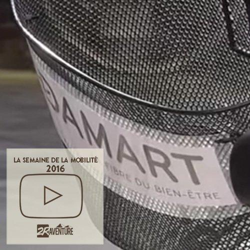 semaine de la mobilité et découverte du vélo électrique chez Damart, à Roubaix