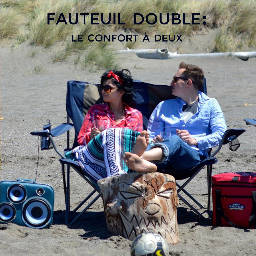 Fauteuil double camping