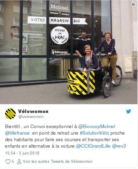 Velowomon découverte vélo cargo