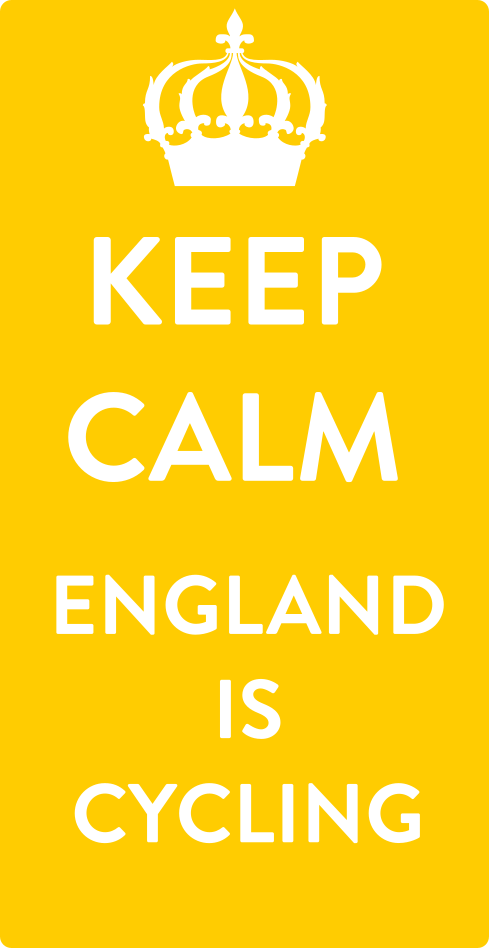 Keep Calm English are cycling