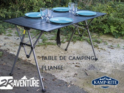 table de camping pliante