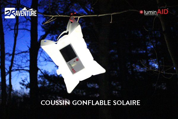 coussin solaire  gonflable Luminaid
