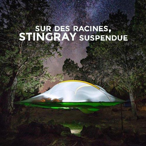 dormir sur des racines - tente suspendue stingray