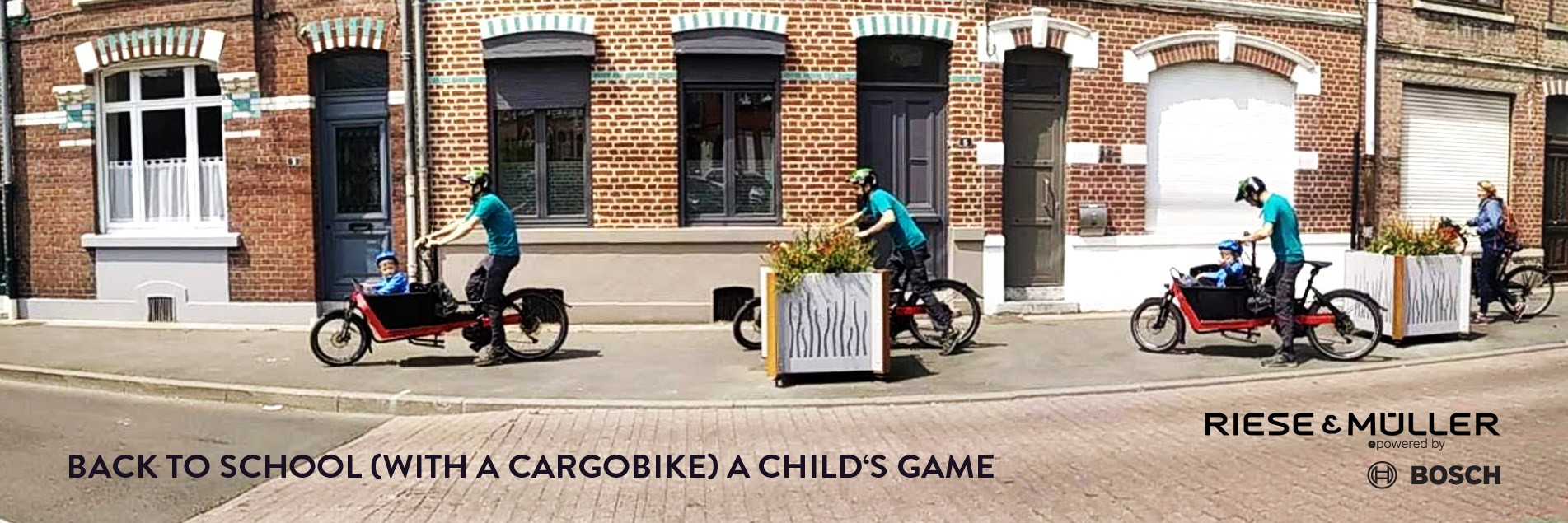 Back to school cargo bike