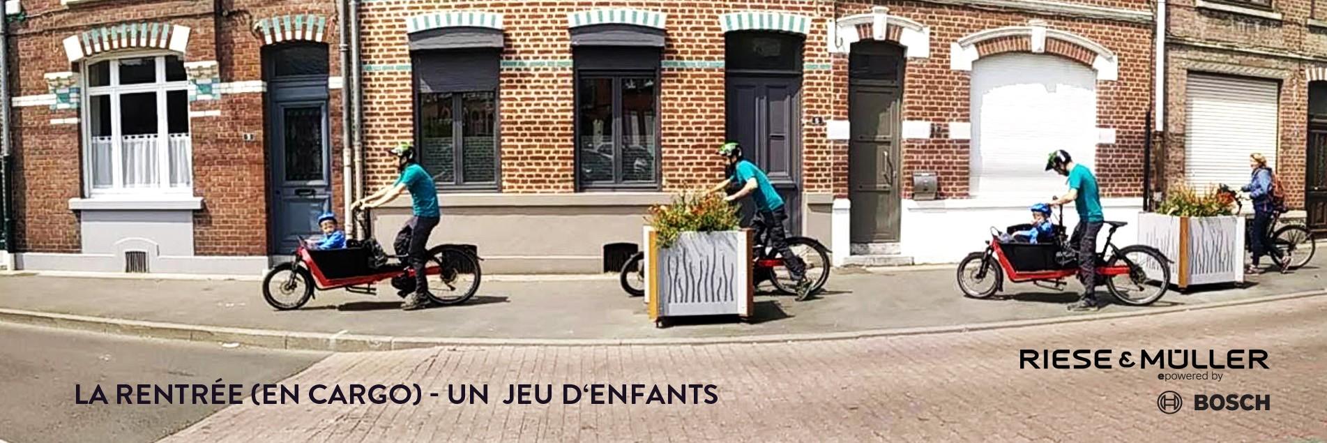 Rentrée : un jeu d'enfants en vélo cargo